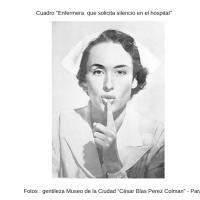 Fotografía - Cuadro enfermera que solicita silencio en hospital