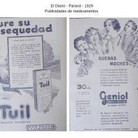 """Publicación - Publicidades de Medicamentos del periódico """"El Diario"""" de Paraná"""